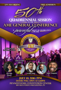 A Powerful Night of Celebration and Praise - Flyer